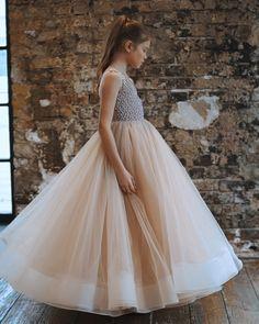 Comunión vestido comunión vestido de seda une hautre Couture 140 146