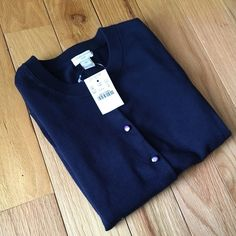 🎉Host Pick🎉🎀NEW🎀J.Crew Navy Clare Cardigan 🎈FINAL PRICE🎈🎉HOST PICK@office style party 10-10-16🎀NEW🎀J.Crew Clare Cardigan. Brand New in perfect flawless condition. 3/4 length sleeves. 100% cotton. 🚫no trade 🚫 no holds ✅10% off bundles🎀PRICE FIRM UNLESS BUNDLED🎀 J. Crew Sweaters Cardigans
