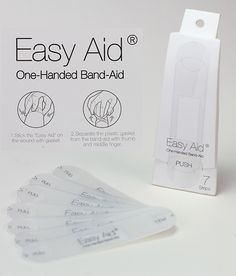 Easy Aid - one handed Band-Aid #Bandaid #medical #YankoDesign