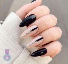 Black Nails, White Nails, Pink Nails, Stylish Nails, Trendy Nails, Sophisticated Nails, Acrylic Nail Designs, Nail Art Designs, Nagel Bling