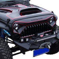 "Jeep Discover Topfire Hood for Jeep Wrangler Fiberglass Hood Cover Replacement for JK/JKU Including Rubicon Sahara and Sport and (Light Gray) (white) TOPFIRE ""Fury Hood"" Replacement Hood for Jeep Wrangler Including Rubicon Sahara and Sport and Grey Jeep Wrangler Bumpers, Jeep Wrangler Rubicon, Jeep Wrangler Unlimited, Jeep Jk, Jeep Truck, Red Jeep, Black Jeep, Jeep Wrangler Accessories, Jeep Accessories"