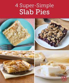 When it comes to baking desserts for a party, slab pies are the way to go. Baked in 13 x 9-inch or half-sheet pans, these party-ready pies are easy to transport and cut—and each of these recipes serve at least a dozen people!