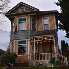 Victorian home with baubles. Everett, WA.