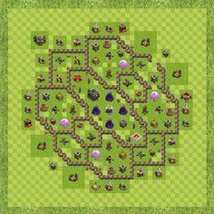 War Base Town Hall Level 9 By Tucker Smith (War base TH 9 Layout) Enjoy the war !