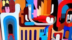 Registro de pintura em tela - Renato Ren