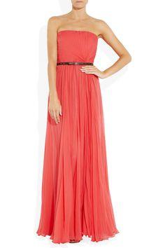 Gucci|Belted silk-chiffon strapless gown|NET-A-PORTER.COM