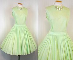 1960s Dress   KEY LIME PIE Vintage 60s Mad Men Green by jumblelaya, $72.00 love this color and this seller is sweet and knows her vintage!