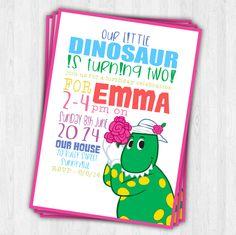 Dorothy The Dinosaur Birthday Invitation by EmbellisheDesigns, $10.00 etsy