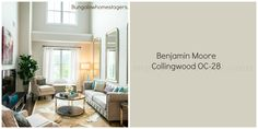Wall color used in this space.. Benjamin Moore Collingwood  OC-28