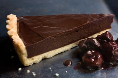 Chocolate Ganache Tart. This tart is as chic as it is simple. The filling requires no baking, so after a few hours in the refrigerator, just slice and serve.
