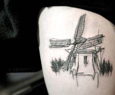 Windmill tattoo by Chaehwa