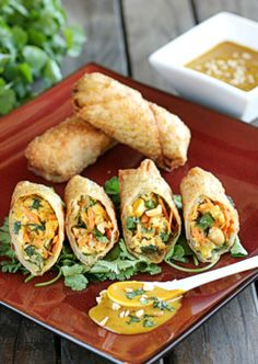 Thai Peanut and Chicken Egg Rolls  | The Hopeless Housewife®