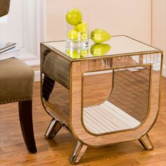 Mirrored Corner Table - Cachet Decor on Joss and Main