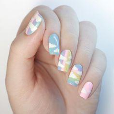 20 ไอเดียเพ้นท์เล็บน่ารักๆ รับหน้าฝน เพ้นท์เล็บหน้าฝน เพ้นท์เล็บฤดูฝน Pastel Nails, Cute Acrylic Nails, Acrylic Nail Designs, Pink Nails, Nail Art Designs, Gel Nails, Pretty Nail Art, Cute Nail Art, Cute Nails