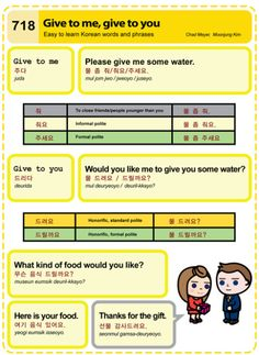 718 Easy to Learn Korean: Give to me, give to you