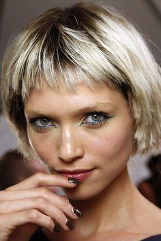 because im addicted - beauty inspo: the dark & embellished french mani