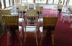 Simply Bows And Chair Covers Newcastle Folding Reclining Lawn Chairs 30 Best Chiavari Decoration Images On Pinterest Gold Sequin Hoods Tied With Organza Sashes By South Wales