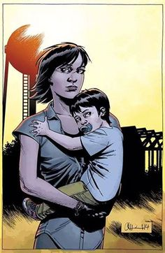 Maggie and her son...Comics! What?!?! I guess im gonna have to read the comics.
