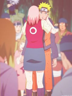 Sakura and Naruto Anime Naruto, Naruto E Sakura, Naruko Uzumaki, Naruto Sasuke Sakura, Naruto Cute, Naruto Shippuden Sasuke, Boruto, Sasusaku Doujinshi, Narusaku