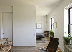 Sliding door in place of wall