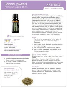 Fennel Essential Oil Uses