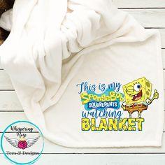 SpongeBob Watching Blanket - Yes / Add Name to Cart Notes