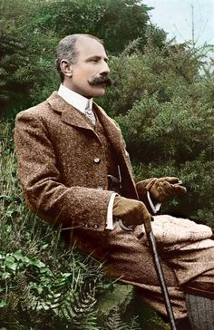Sir Edward Elgar. Love this photo - class, manners, and tweed.