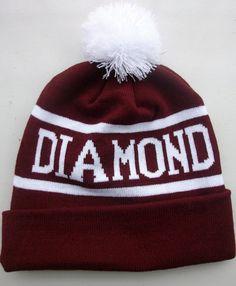 DIAMOND SUPPLY CO Beanie Men's Women's Knit Cap Wool Hats