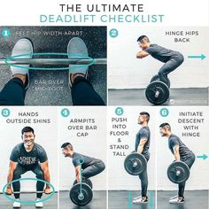 Deadlift is one of the best compound exercises. It focuses and create tention on each and every muscle of your body. Correct form is must when performing any workout. Fitness Workouts, Fitness Motivation, Tips Fitness, Gym Workout Tips, Fitness Models, Lifting Motivation, Fitness Facts, Workout Style, Fitness Outfits