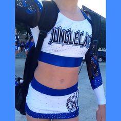 Junglecats Cheer Clothes, Cheer Outfits, Football Cheerleaders, Cheerleading, Cheer Athletics, Cheer Uniforms, All Star Cheer, Dream Team, College Football
