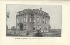 1st building constructed on Tuskegee's campus