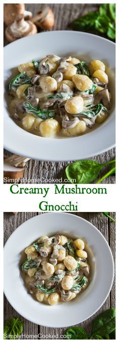 This creamy and cheesy mushroom gnocchi really hits the spot when craving any…