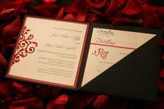 Invitations...I like the diagonal line on the folder side.