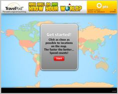 This simple geography game asks players to locate destinations around the world, to as close as possible to their actual locations. Fun for kids and adults- It is more challenging than you think! World Geography Games, Physical Geography, Teaching Social Studies, Teaching Kids, Map Skills, Price Book, Kids Education, Learning Activities, Games For Kids