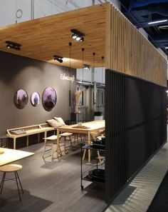 Ethnicraft@ scandinavian furniture fair cafe in 2019 office interior design, Scandinavian Office, Scandinavian Furniture, Scandinavian Design, Corporate Interiors, Office Interiors, Commercial Design, Commercial Interiors, Design Living Room, Home Theater Seating