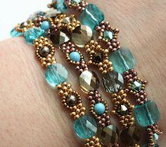 Sabine lippert use of mini Swarovski beads love!