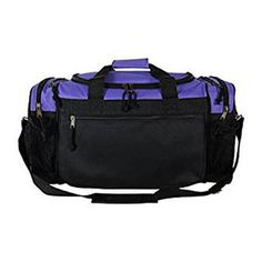 ProEquip Sport Gym Duffle Bag Travel Size Sport Durable Gym Bag -- Details can be found by clicking on the image. Bags Travel, Duffle Bag Travel, Duffel Bags, Travel Luggage, Travel Workout, Best Gym, Purple Bags, Blue Gold, Purple Gray