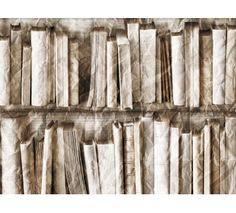Beige crumbled Bookcase wallpaper by Koziel  Made in France  48€/roll