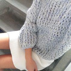 Loose Kiro by Kim handknitted jumper. Kiro By Kim, Knit Fashion, Nordic Fashion, Nordic Style, Yarn Needle, Winter Wear, Knitting Yarn, Knitwear, Knit Crochet