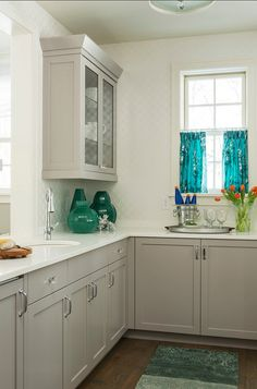 Gray Kitchen Cabinets. Benjamin Moore baltic gray 1467 #Gray #KitchenCabinets