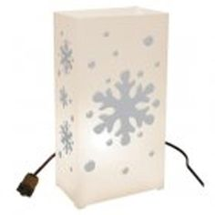 Set of 10 Lighted Winter Snowflake Christmas Luminaria Pathway Markers -- For more information, visit image link.
