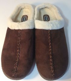 8af284f75bfb Men s Dr Scholl Slippers Mule Brown Suede Sherpa Lined Clog Size 11M   DrScholls  Mules
