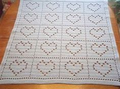 Heart Baby Blanket / Lapghan Pattern Only by jeannield on Etsy