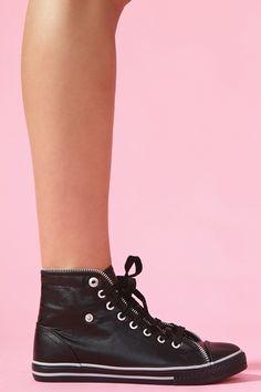 Zipped Sneaker - Black