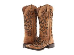 Stetson Laser Cutout Square Toe Boot - Zappos.com Free Shipping BOTH Ways