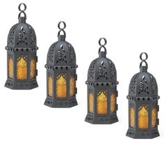 Golden-Glass-Moroccan-Lantern-10-1-2-tall-Set-of-Four-Wedding-Supplies-39923