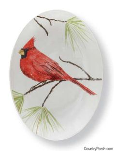 Cardinal Spoon Rest