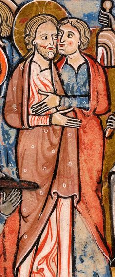 Christ Embraced by Judas | Psalter | England, Oxford |  between 1212 and 1220 | The Morgan Library & Museum