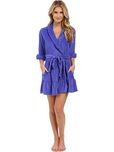 Betsey johnson vintage terry robe wild blue yonder 0aed2027c