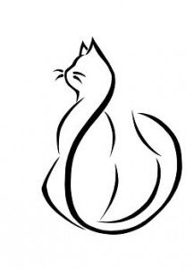 Cat Tattoo Designs - The Body is a Canvas Cat Drawing, Line Drawing, Cat Tattoo Designs, Pyrography, Crazy Cats, Cat Art, Tatoos, Cat Tattoos, Line Art